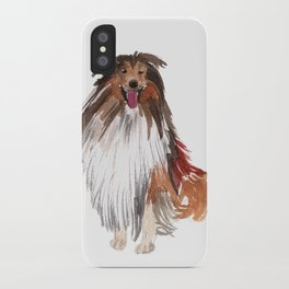 watercolor dog vol1 collie iPhone Case