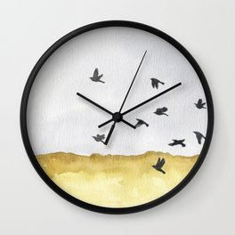 Autumn Crows Wall Clock