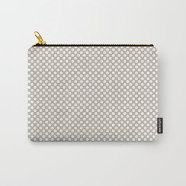 Peyote and White Polka Dots Carry-All Pouch