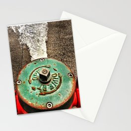 Running Fire Hydrant Stationery Cards