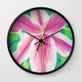Jane's Lily Wall Clock