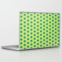 green pattern Laptop & iPad Skins featuring Pattern green by LoRo  Art & Pictures