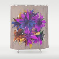 low poly Shower Curtains featuring Low Poly by Schmeez