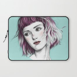 Pink Ombre Hair Laptop Sleeve