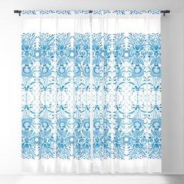 Azulejos Ladies - Handpainted Watercolor Blackout Curtain