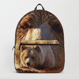 Grizzly Brown Bear  Backpack