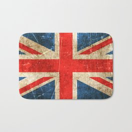 Vintage Aged and Scratched British Flag Bath Mat