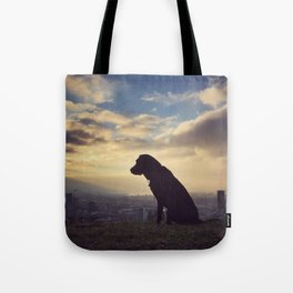 Little Dog, Big City Tote Bag