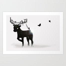 Bb Stag Art Print