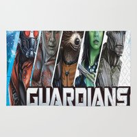 guardians of the galaxy Area & Throw Rugs featuring guardians of the galaxy by store2u