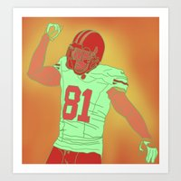 49ers Art Prints featuring 49ers Anquan Boldin by Courtney Charlton