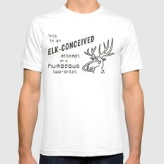 Elk-Conceived SMALL Mens Fitted Tee White