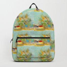 Van Gogh, abstraction from Van Gogh 3– Van Gogh,Vincent Van Gogh,impressionist,post-impressionism,br Backpack