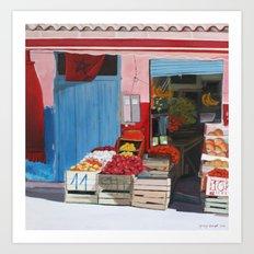 moroccan market Art Print