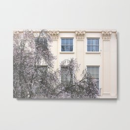 London Apartments Spring Blooms Metal Print