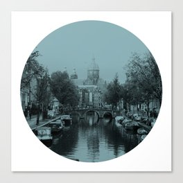 Amsterdam Canal #1 Canvas Print