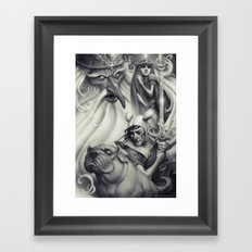 Another Castle :: Duotone Print Framed Art Print