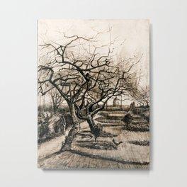 Vincent van Gogh - Parsonage Garden at Nuenen in Winter Metal Print