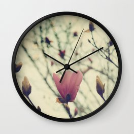 An Early Spring, Branches in bloom and bud Wall Clock