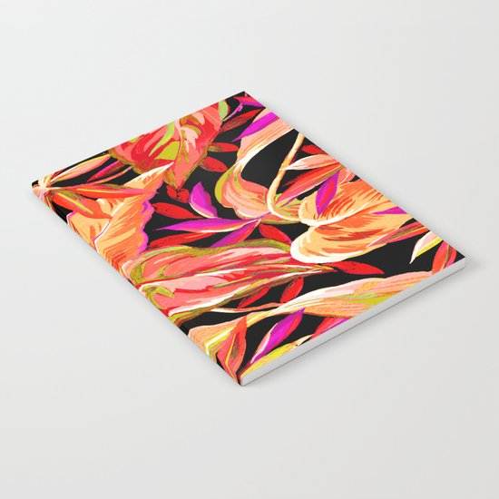 fall tropical leaves Notebook