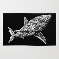 bioworkz Area & Throw Rugs featuring Great White by BIOWORKZ