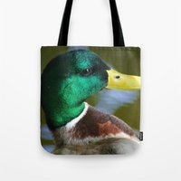 duck Tote Bags featuring Duck by jamester42