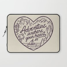 Adventure is where your heart is Laptop Sleeve