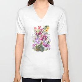 Grand Hotel Floral Unisex V-Neck