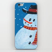 snowman iPhone & iPod Skins featuring Snowman by gretzky