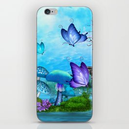 Mystic Whimsey Butterfly Pond Fantasy iPhone Skin