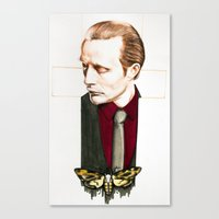 hannibal Canvas Prints featuring Hannibal by Caeruls