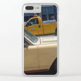 Dog in a car Clear iPhone Case