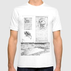 Death's newspaper booth White Mens Fitted Tee MEDIUM