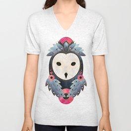 Owl 1 - Light Unisex V-Neck