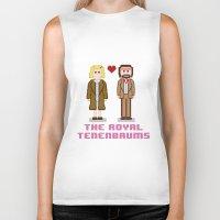 tenenbaum Biker Tanks featuring Margot and Richie Tenenbaum 8 bits by AlbaRicoque