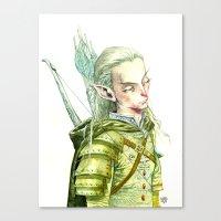 legolas Canvas Prints featuring Legolas by Roger Cruz