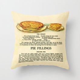 Pies - Vintage Throw Pillow