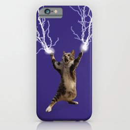 Lightning Cat iPhone Case