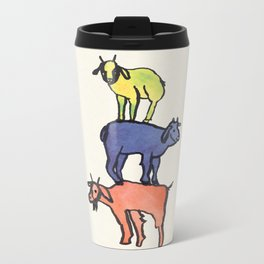 3 Billy Goats Up Metal Travel Mug