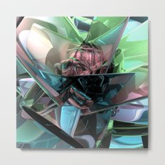 Colorful 3D Reflections Metal Print