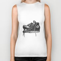 sneakers Biker Tanks featuring sneakers by Cardula