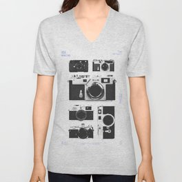 Cameras : 1950 / Japan Collection Unisex V-Neck
