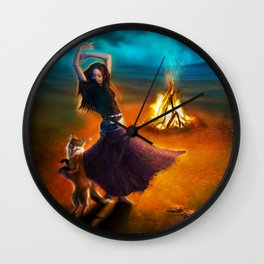 Dance Like A Dervish Wall Clock