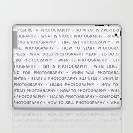 Strong Photography Keywords Marketing Concept Laptop & iPad Skin