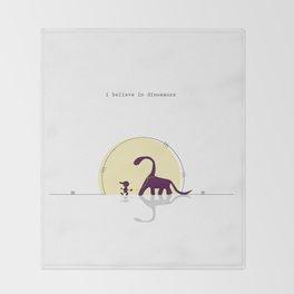 i believe in dinosaurs Throw Blanket