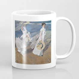 Joaquín Sorolla y Bastida - Strolling along the Seashore Coffee Mug