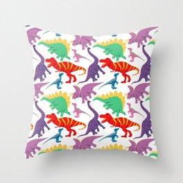 Dinosaur Domination - Light Throw Pillow