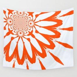The Modern Flower White & Orange Wall Tapestry