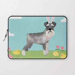 Schnauzer easter dog breed pet pattern rescue dog schnauzers lovers spring easter eggs Laptop Sleeve