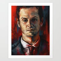 moriarty Art Prints featuring James Moriarty by Alice X. Zhang